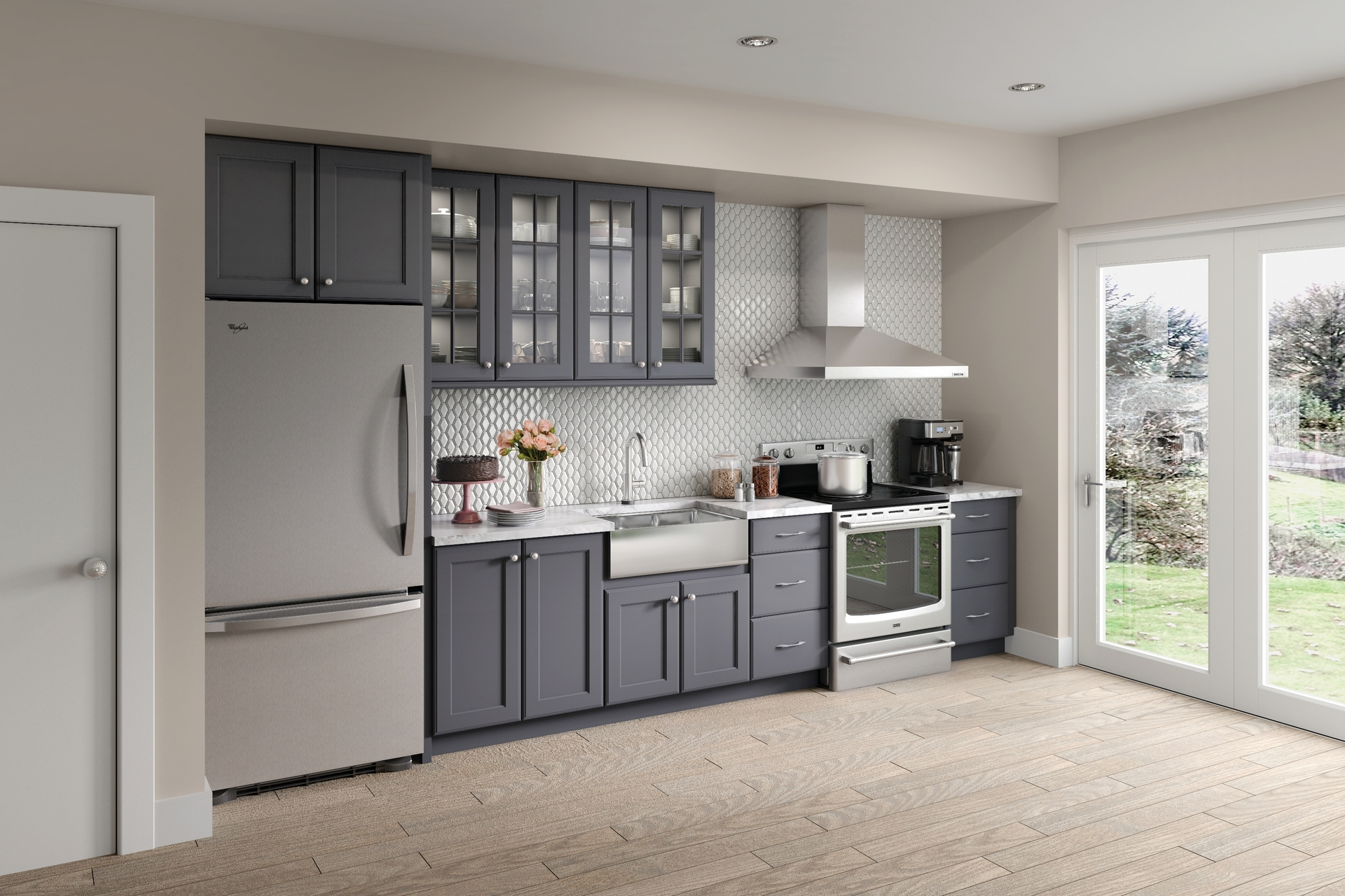 Cardell Kitchen Cabinets - Rockeny Maple in Lagoon