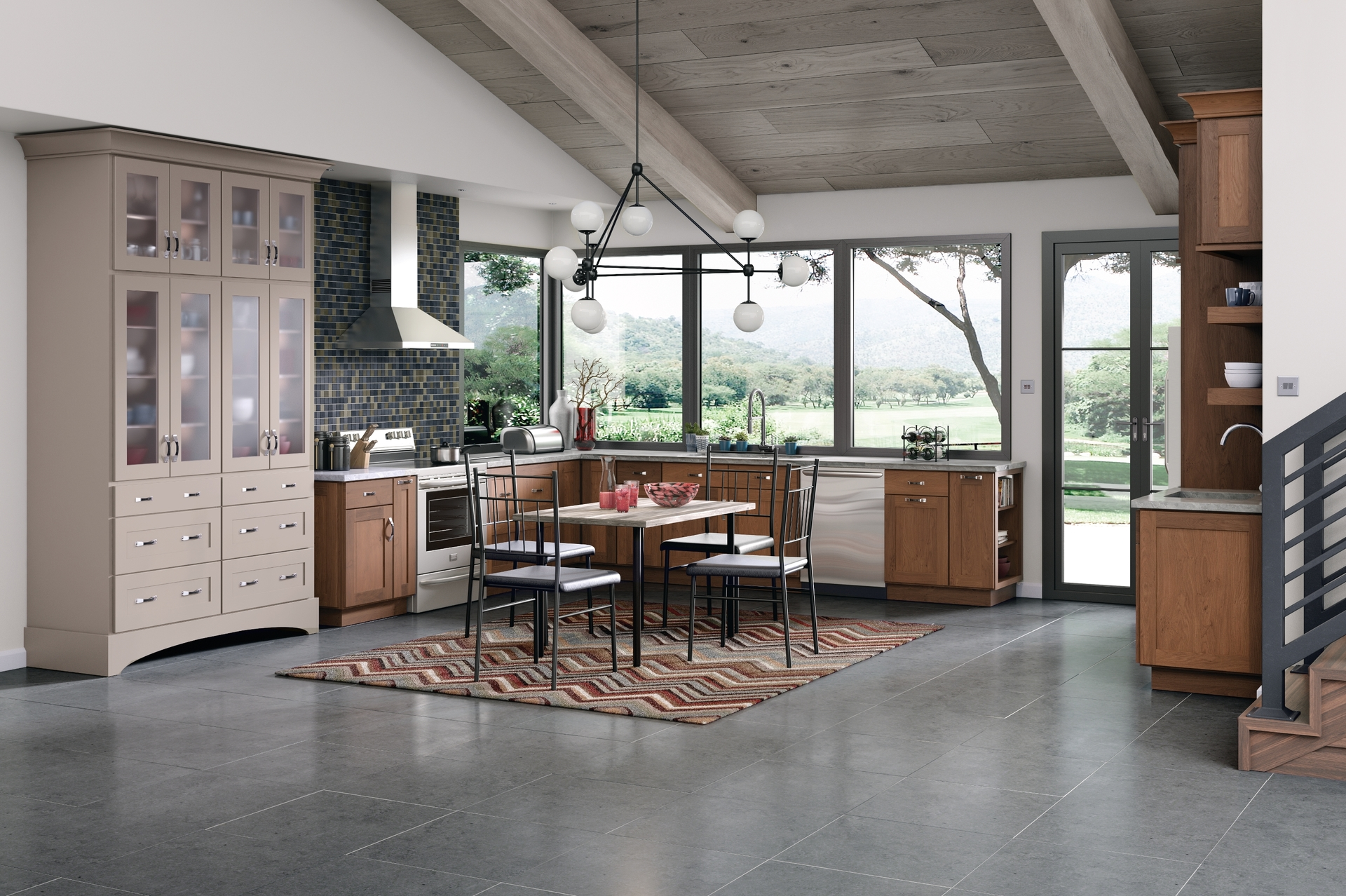 Image of: Cardell Kitchen Cabinets Timblin Rustic Alder In Husk