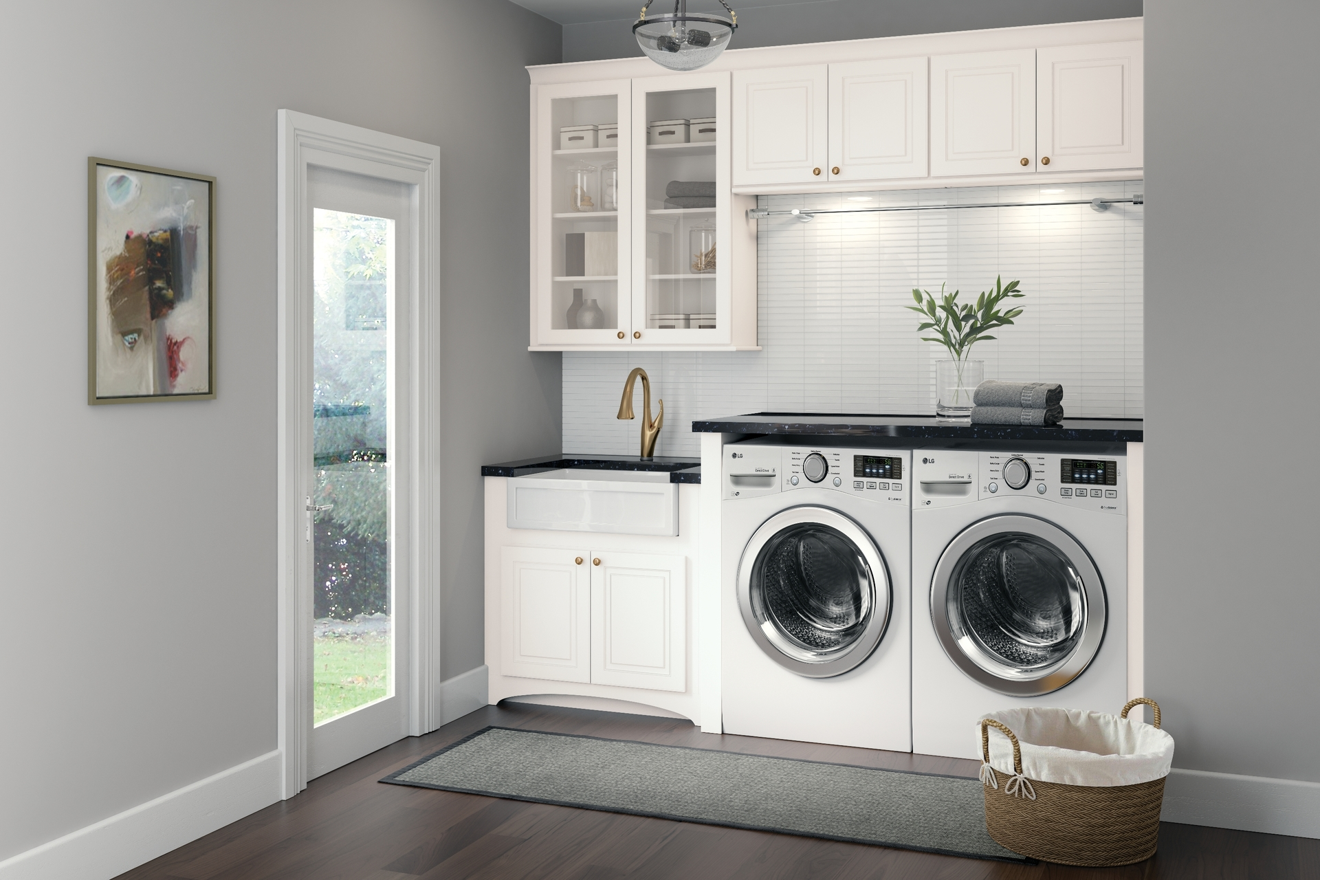 Fine Cardell Kitchen Cabinets Stubben In White Laundry Room Interior Design Ideas Gentotryabchikinfo