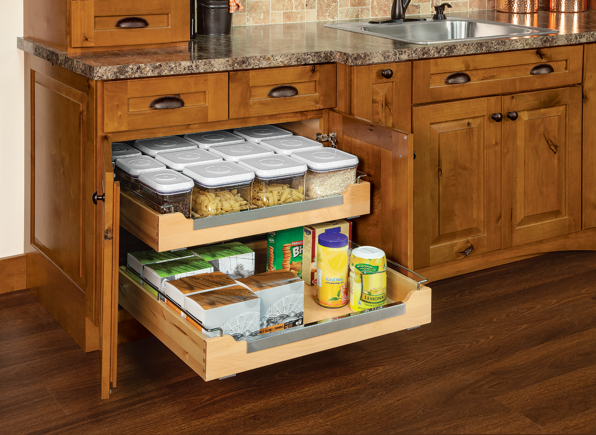 Chrome Deluxe Roll ... - Cardell Kitchen Cabinet Accessories