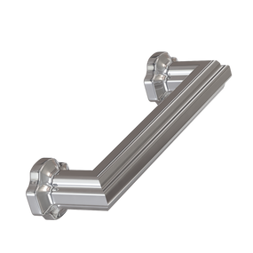 """Polished Nickel Empire Pull 4"""" center pull"""