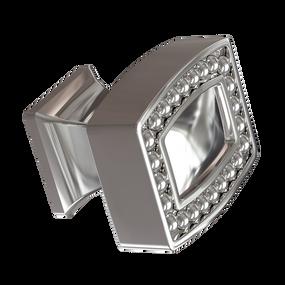 Polished Nickel Pearl Beaded Knob