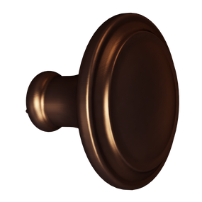 Dark Brushed Bronze Simplicity Knob