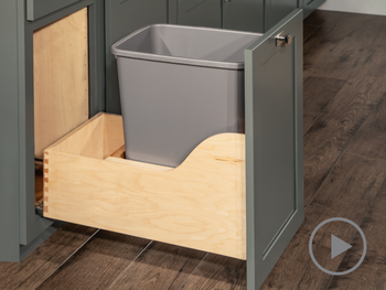 Base Bottom Mount Wastebasket - Single