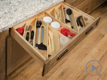 Utensil Drawer Organizer - Angled