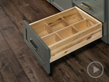 Deep Drawer Organizer without Canister Storage