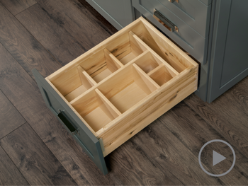 Multi Sized Deep Drawer Organizer without Food Storage