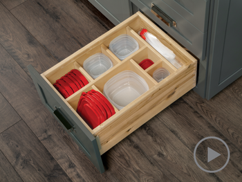 Multi Sized Deep Drawer Organizer with Food Storage
