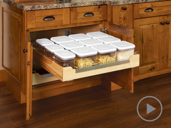 Roll-out Tray Organizer with Canisters