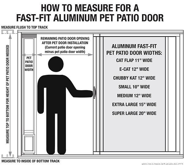 Alum pet patio Door