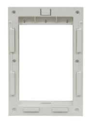Small Size Plastic Inside Frame With Slots For Slide. Designed For Door With Rectangular Logo With Smooth Metal Bar On Vinyl Flap.