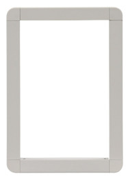 Medium Size Aluminum Outside Frame. Designed For Door With  Flexible 3-Part LEXAN» Plastic Flap.