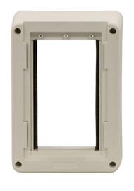 Small Size Plastic Inside Frame With Holes For Screws. Designed For Door With Double Vinyl Flaps Without Side Clips.