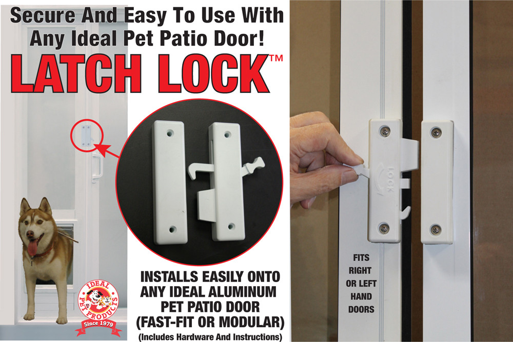 Pet Patio Door Latch Lock Free Shipping Ideal Pet Products