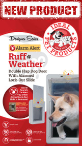 "Designer Series ""Alarm Alert"" Ruff-Weather™ Pet Door – FREE SHIPPING!"