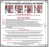 New Cat Flap Paper Template