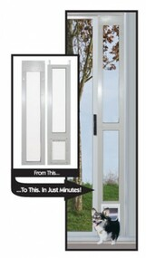 "Perfect Pet by Ideal Aluminum Modular Pet Patio Doors ""Great For Balconies"" – FREE SHIPPING!"