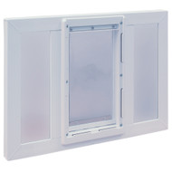 """WHILE SUPPLIES LAST! Vinyl Sash Window Pet Doors For 24"""" Vinyl Windows– FREE SHIPPING! (Continental U.S. Only)"""