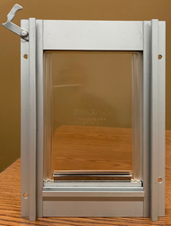 While Supplies Last!  Small Mill Deluxe Aluminum Pet Door – FREE SHIPPING!
