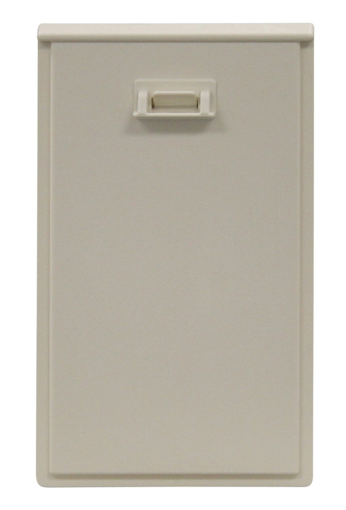Small Size Plastic Animal Lock-Out Slide To Keep Pet In Or Out. Designed For Door With Double Vinyl Flaps With Side Clips/Aluminum Frame. In A 900 Series Patio Door.