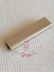 """4x Straight edge 3.8cm(1 1/2"""") Strap Ends. Rose Gold. Alloy Cast. High Quality."""