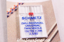 Schmetz twin needles 2.5/80
