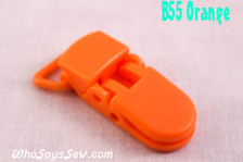 B55 KAM plastic resin dummy clips 2cm Who Says Sew