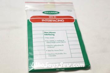 Medium Weight Sew-In Interfacing 90cmx45cm. Made in Australia