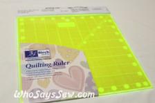 "9.5"" x 9.5"" anti-slip fluoro quilting ruler"