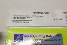 "6.5""x 12"" Fluoro Anti-Slip Quilt Square Ruler"