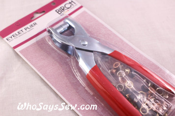 Eyelet Pliers with 100 Assorted Eyelets