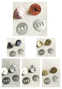 14mm OR 18mm Slim Line Magnetic Snap Buttons in Rose Gold/Shiny Nickel/Gold/Antique Brass/Light Gold/Gunmetal