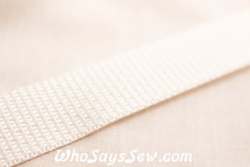 White Polyproplene Webbing by the Metre in Widths 20mm- 50mm. Australian Made