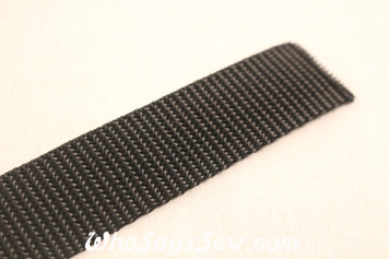 Black Polyproplene Webbing by the Metre in Widths 20mm- 50mm. Australian Made