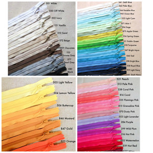 "YKK 50cm/20"" Nylon Coil Closed-ended Zipper in 47 Colours. Suitable for Clothing etc"