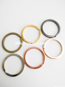 "3cm (1.2"") Round Flat Split Rings in 6 Finishes. Great Quality."