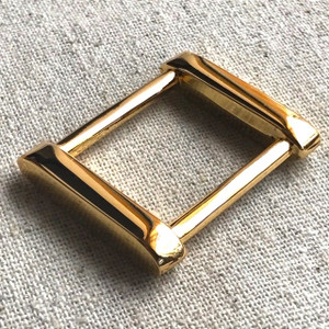 "2x REAL GOLD 2.5cm (1"") Rectangle Rings- ""Classy"""
