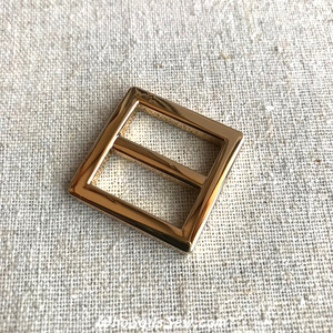 "2x 2CM (3/4"") REAL GOLD ALLOY CAST SLIDER(TRI-GLIDES)"