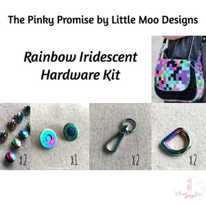 *The Pinky Promise Bag By Little Moo Designs* Rainbow Iridescent Hardware Kit