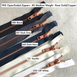 Chunky Zip #5 Plastic Teeth Zipper 25.6/'/' Single Slider Open End Navy Blue 65cm