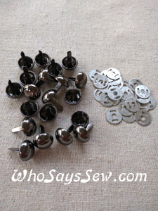 *BULK 100 pcs* Medium Dome Bag Feet in Nickel, Gunmetal, Light Gold or Antique Brass. 12mm. Come with Washers