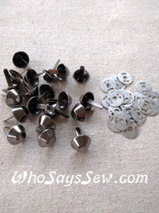 *BULK 100 pcs* Large Bucket Bag Feet in Gunmetal, Light Gold or Antique Brass. 15mm. Come with Washers