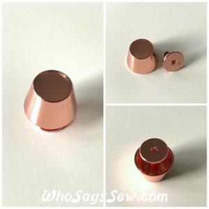 "*BULK 20 PCS* ROSE GOLD Large 15mm/1.5cm/ 5/8"" Alloy Bucket Bag Feet. Screw Back. High Quality. Nickel Free."