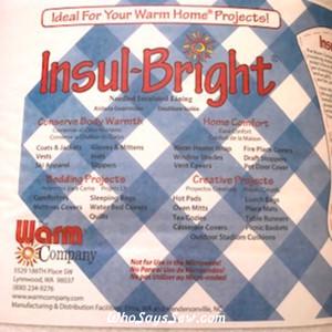 "Half Metre x Insul-Bright Needled Insulated Lining/Interfacing. 55cm/22.5"" Wide."