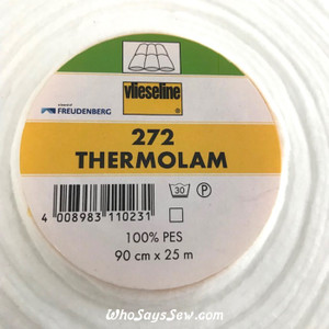 "Half Metre x THERMOLAM 272 Compressed Dense Batting/interfacing. Sew-In. 90cm/35.4"" Wide."