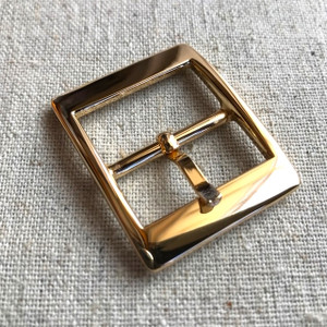 "2x REAL GOLD 2cm/ 3/4"" Buckles. High Quality."