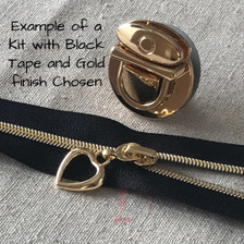 Example of a Kit with black tape and Gold finish chosen.