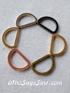 *BULK 50pcs* 1.5cm, 1.9cm OR 2.5cm Flat Alloy D-Rings in 5 High Quality NICKEL FREE finishes