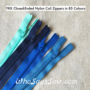 "YKK 20cm/8"" Closed-Ended All-Purpose Nylon Coil Zipper in 85 Colours. Top Quality"