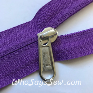 A PAIR OF YKK REVERSE SIDE LONG ZIPPER PULLS FOR YKK SIZE 5 RC NYLON COIL ZIPPER IN 7 COLOURS